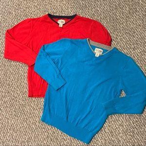 Boys V-Neck Long Sleeve Sweater Bundle